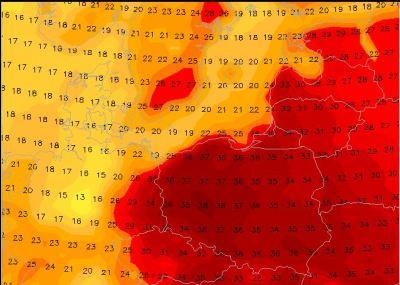 GSF temperatūras prognoze pirmdienai.