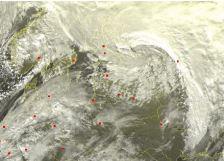 Neliels, bet aktivs cikloniņš, kas atnesa Latvijā vētru pirmdienas rītā.